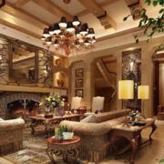 美式简约风格古典客厅装饰