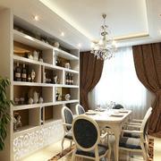 欧式经典风格餐厅酒柜装饰