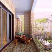 阳台个性瓷砖地板欣赏