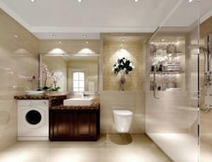 精美不锈钢浴室柜卫生间装修效果图