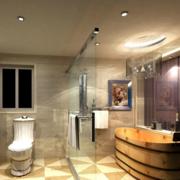卫生间舒适木桶浴缸