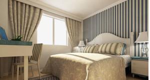 北欧卧室飘窗装饰
