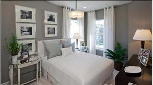 美式简约风格卧室床头背景墙装饰