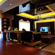 别墅奢华风格电视背景墙装饰