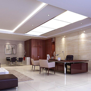 中式简约风格办公室置物架装饰