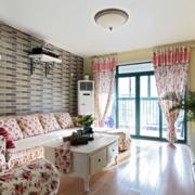 欧式田园风格客厅吊顶装饰