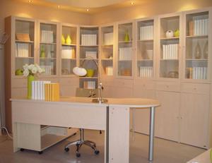 现代风格书房书柜装饰