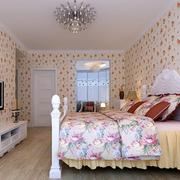 韩式小碎花卧室壁纸装饰