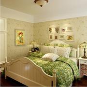 欧式田园风格卧室壁纸装饰