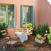欧式田园风格阳台简约桌椅装饰