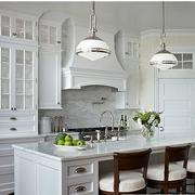 美式原木白色厨房装饰