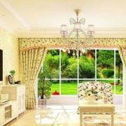 欧式田园风格客厅飘窗装饰