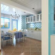 一字型家居厨房展示