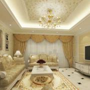 温馨米白色的客厅