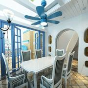 地中海风格餐厅吊顶装饰