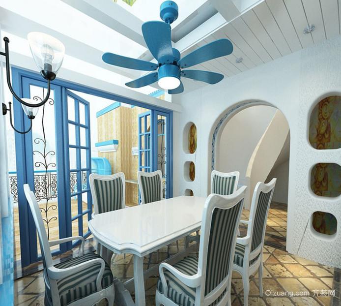 2015地中海风格餐厅吊顶装修效果图