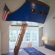 地中海阁楼原木楼梯装饰