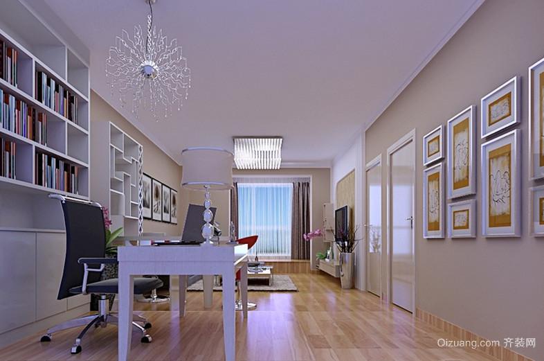 120平米现代简约书房设计装修效果图欣赏