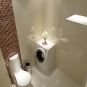 小户型简约卫生间瓷砖装饰