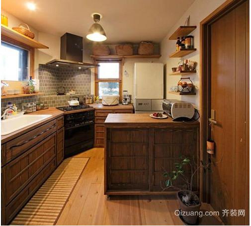 日式小户型厨房装修效果图