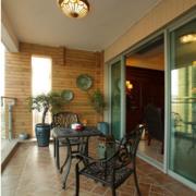 地中海风格农村房屋阳台吊顶装饰