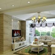 欧式田园风格大理石客厅电视背景墙装饰