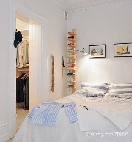 120平米单身公寓北欧风格卧室装修效果图
