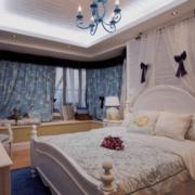 地中海风格简约卧房背景墙装饰