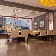 现代化饭店简约窗户装饰