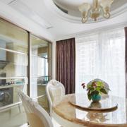欧式简约风格厨房玻璃推拉门装饰