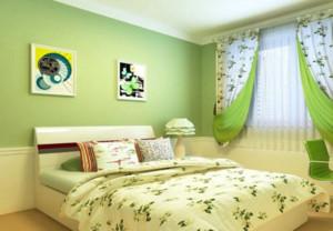 儿童房绿色基调卧室