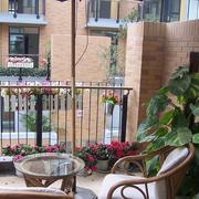 韩式清新风格阳台藤椅装饰