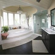 卫生间后现代风格石膏板吊顶装饰