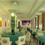 现代风格清新饭店装饰