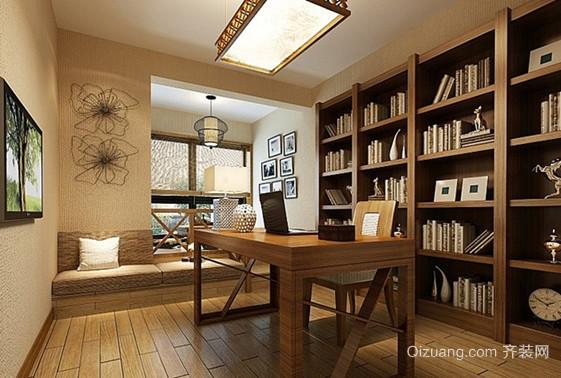 三居室中式书房设计装修效果图欣赏