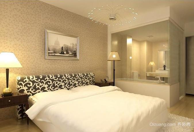 2015两居室现代简约卧室装修效果图