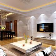 简约风格客厅石膏板背景墙装饰