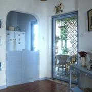 地中海入户花园玻璃门装饰