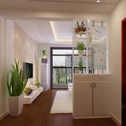 现代化简约客厅隔断装饰