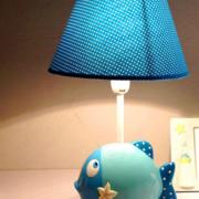 卧室蓝色梦幻台灯