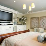 欧式田园风格卧室电视柜设计