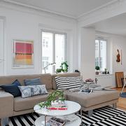 北欧风格简约客厅石膏线装饰