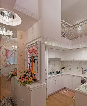法式厨房置物架装饰效果图