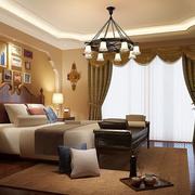 暖色调的别墅卧室