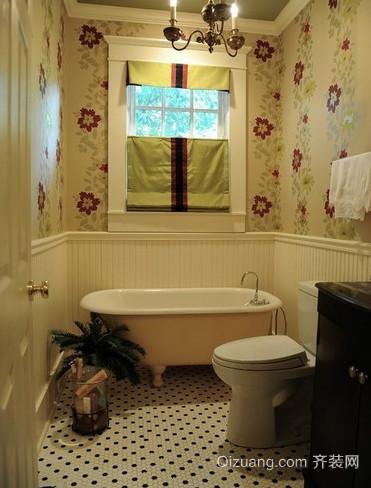 田园风格6平米小卫生间装修效果图
