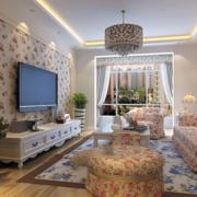 欧式简约风格客厅电视背景墙装饰