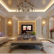 大型别墅奢华欧式电视背景墙