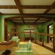 客厅美式实木吊顶展示