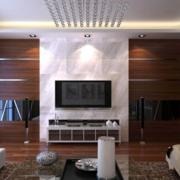 后现代风格原木深色电视背景墙装饰