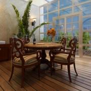 简约风格深色阳台桌椅装饰